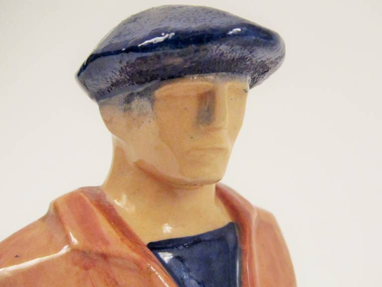 Rare Ceramic Sculpture by Emile-Just Bachelet for Henriot Quimper 3