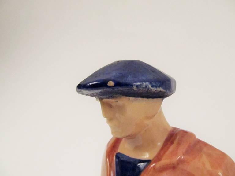 Rare Ceramic Sculpture by Emile-Just Bachelet for Henriot Quimper 5