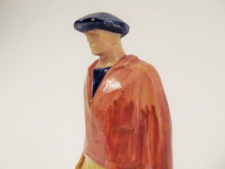 Rare Ceramic Sculpture by Emile-Just Bachelet for Henriot Quimper 9