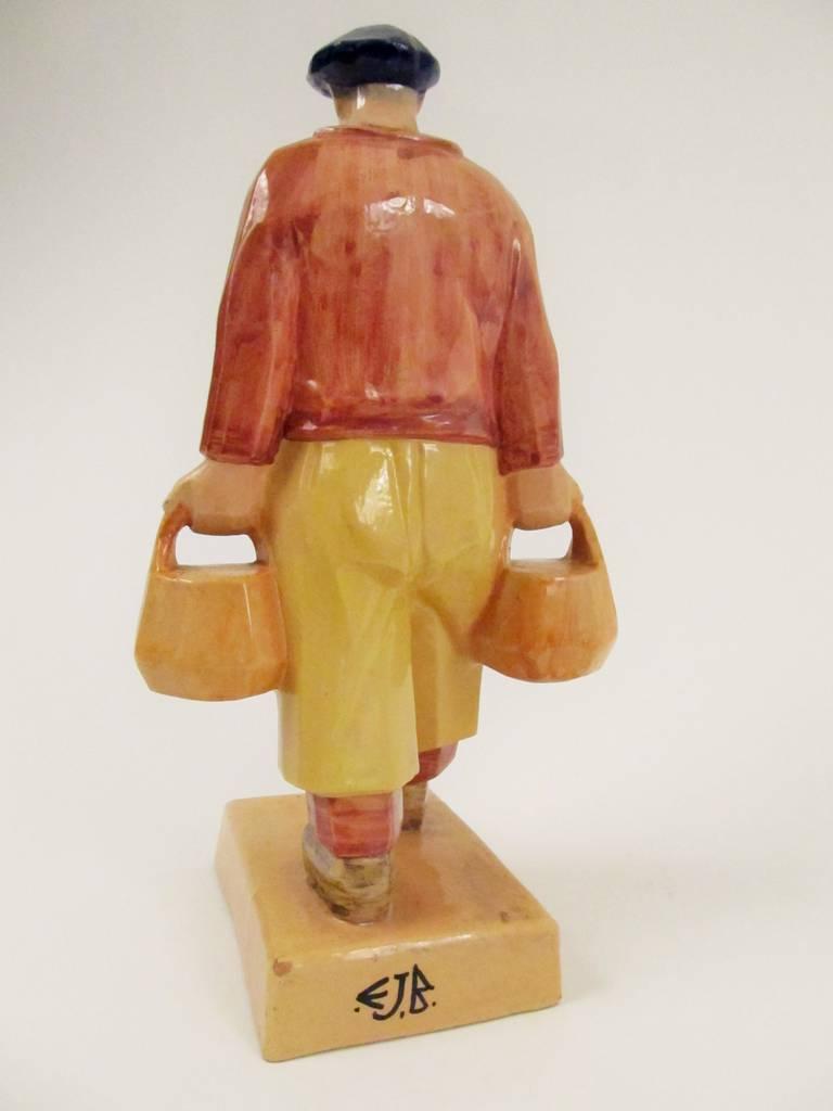 Rare Ceramic Sculpture by Emile-Just Bachelet for Henriot Quimper 8