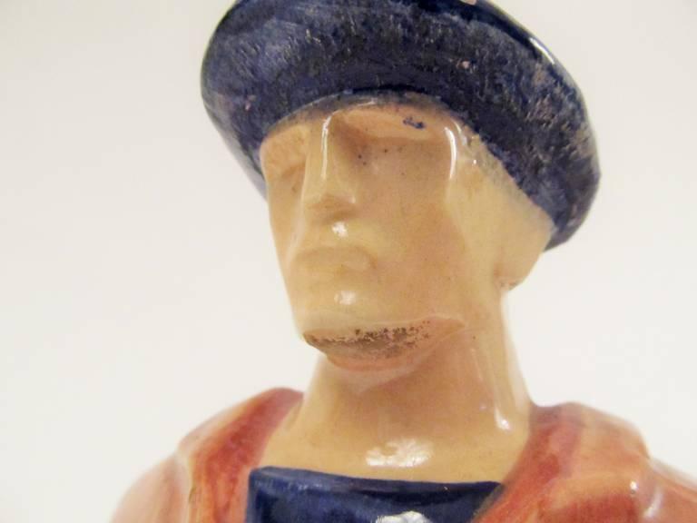 Rare Ceramic Sculpture by Emile-Just Bachelet for Henriot Quimper 10