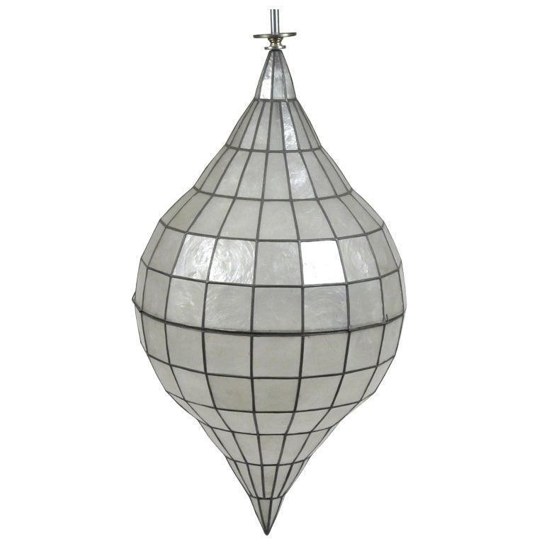 large capiz shell ceiling fixture at 1stdibs. Black Bedroom Furniture Sets. Home Design Ideas