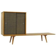 2 Piece  Paul McCobb Platform and Cabinet