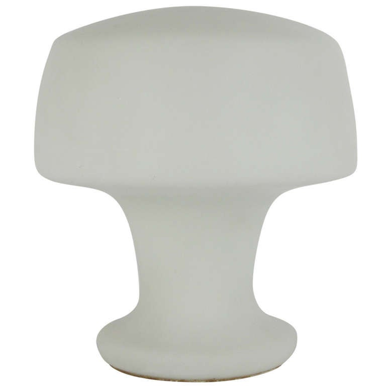 laurel frosted glass table lamp at 1stdibs. Black Bedroom Furniture Sets. Home Design Ideas