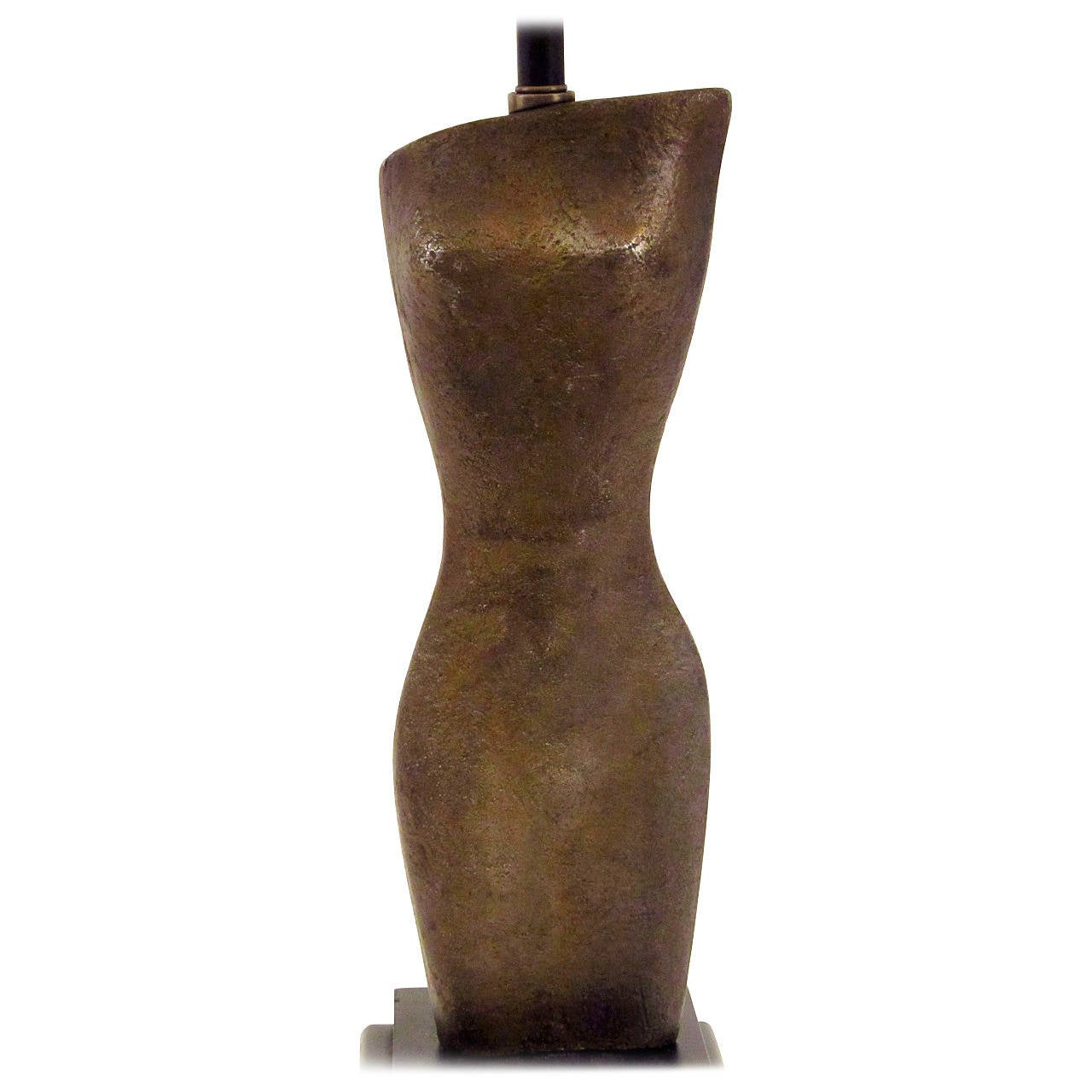 Female Torso Sculptural Table Lamp 1