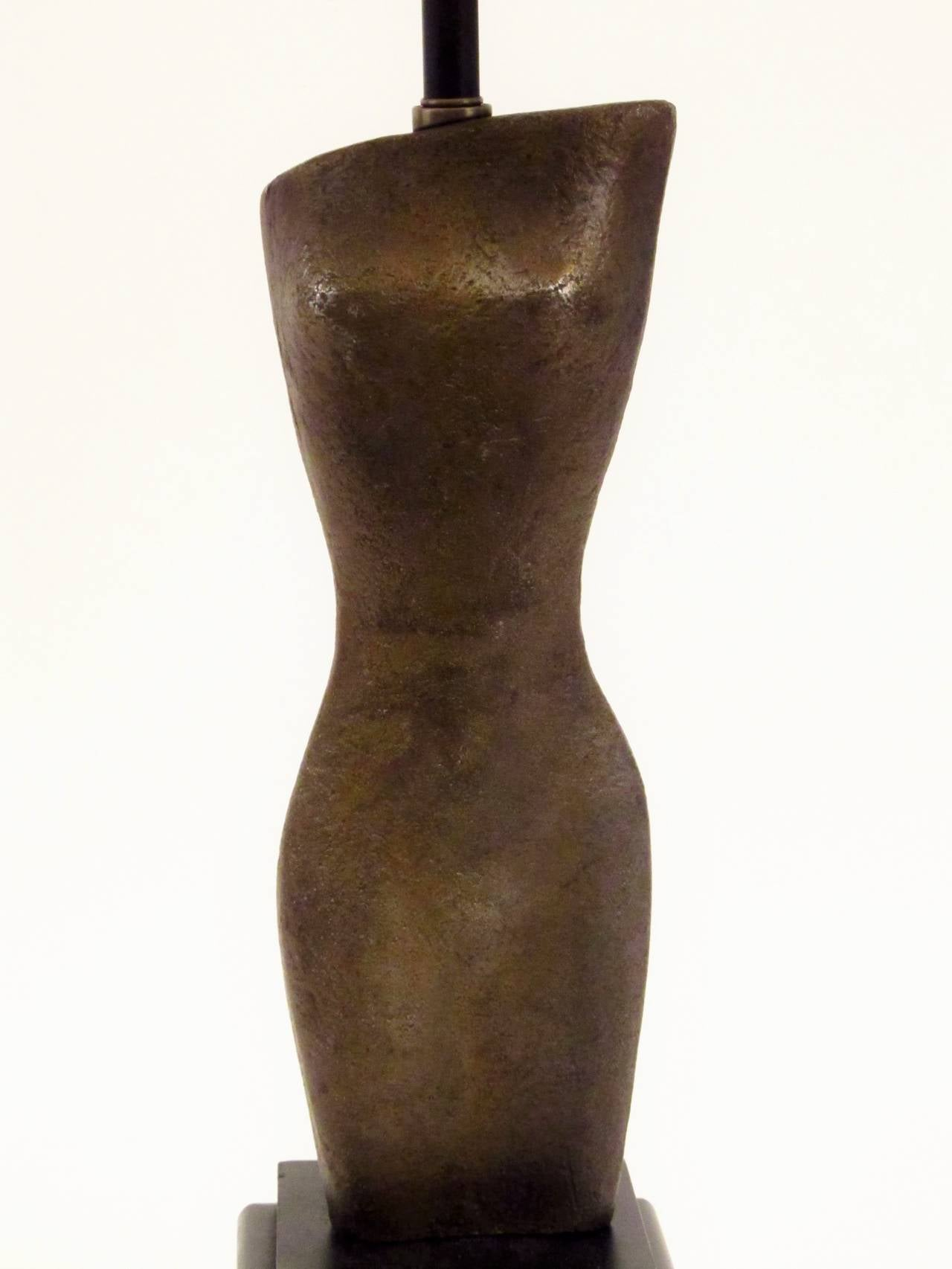 Female Torso Sculptural Table Lamp 2