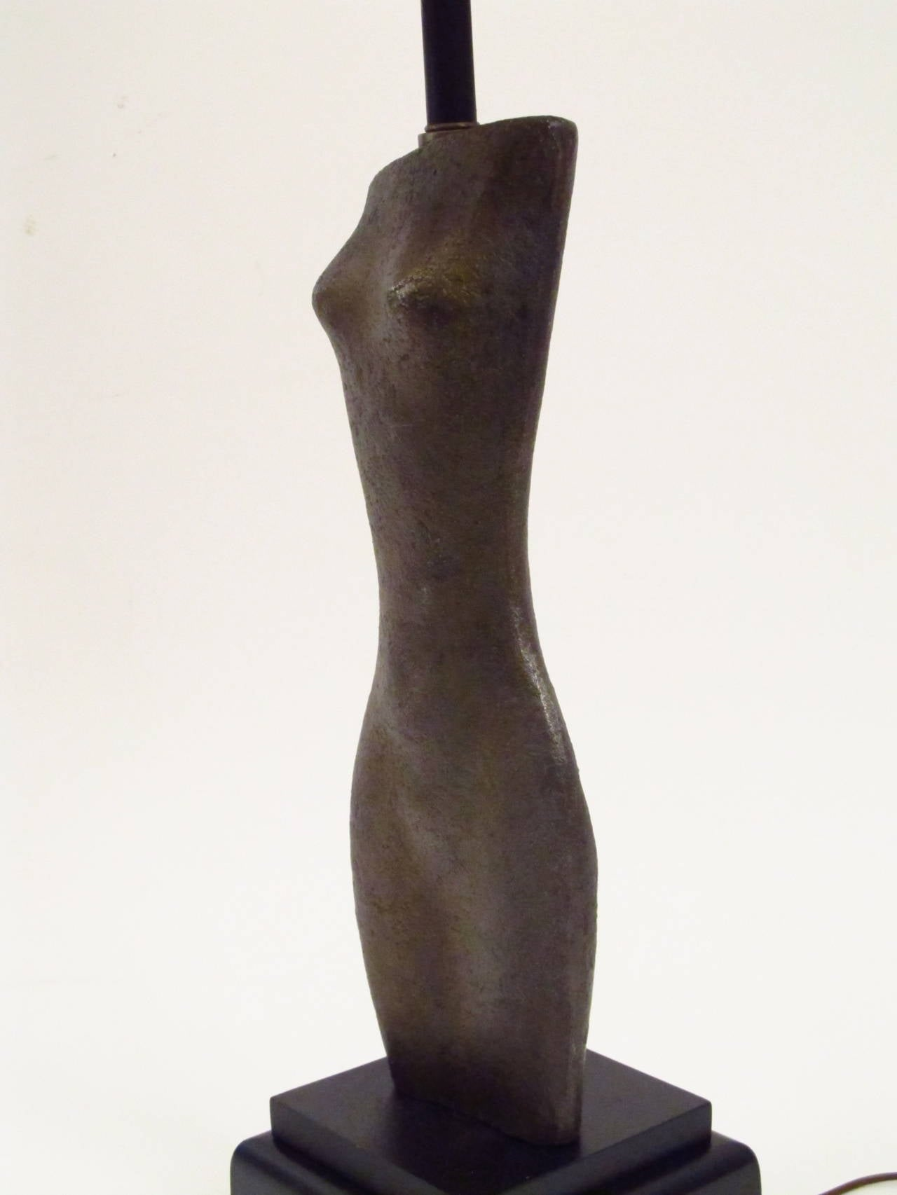 Female Torso Sculptural Table Lamp 4