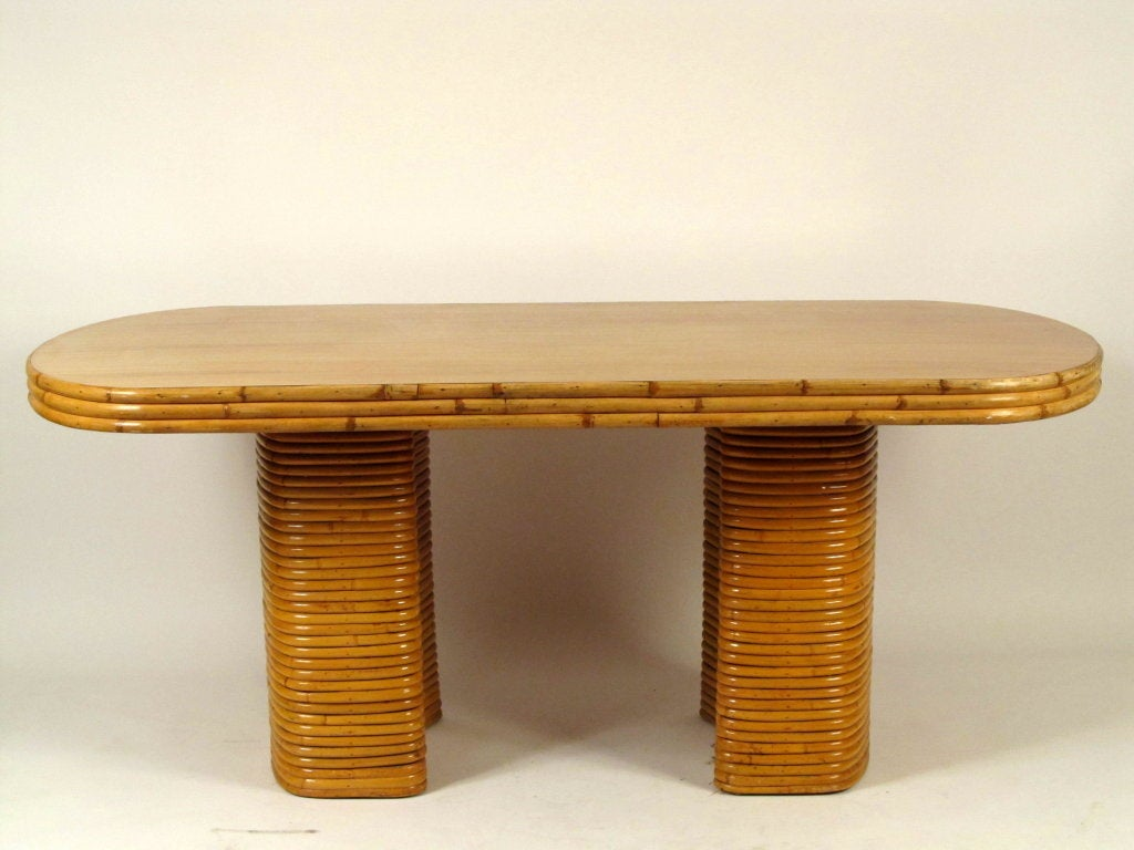 Vintage Rattan Double Pedestal Dining Table at 1stdibs : 953713541448782 from www.1stdibs.com size 1024 x 768 jpeg 78kB