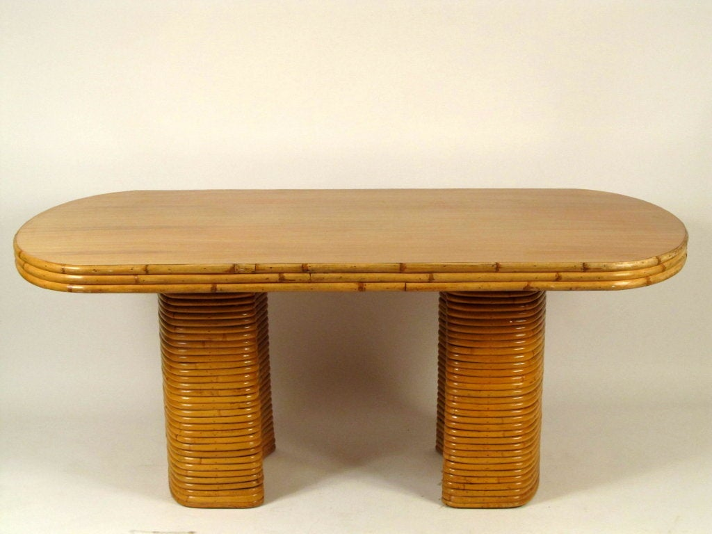 Vintage Rattan Double Pedestal Dining Table at 1stdibs : 953713541448783 from www.1stdibs.com size 1024 x 768 jpeg 77kB