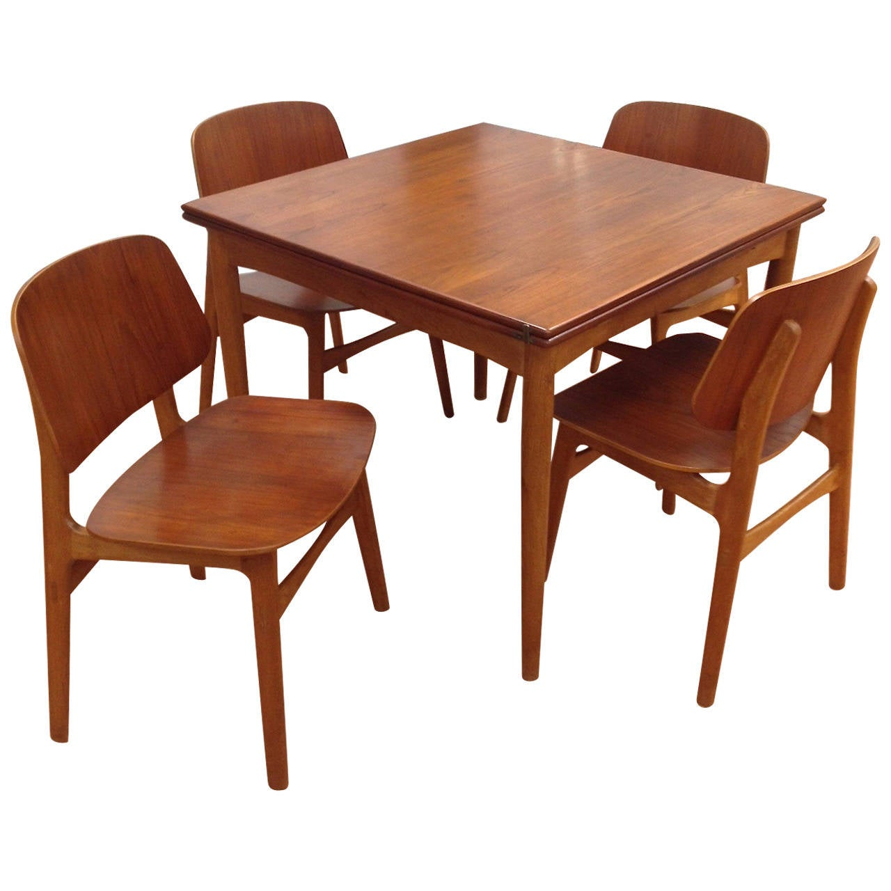 Borge Mogensen Flip Top Dining Table And Four Model 155 Chairs For