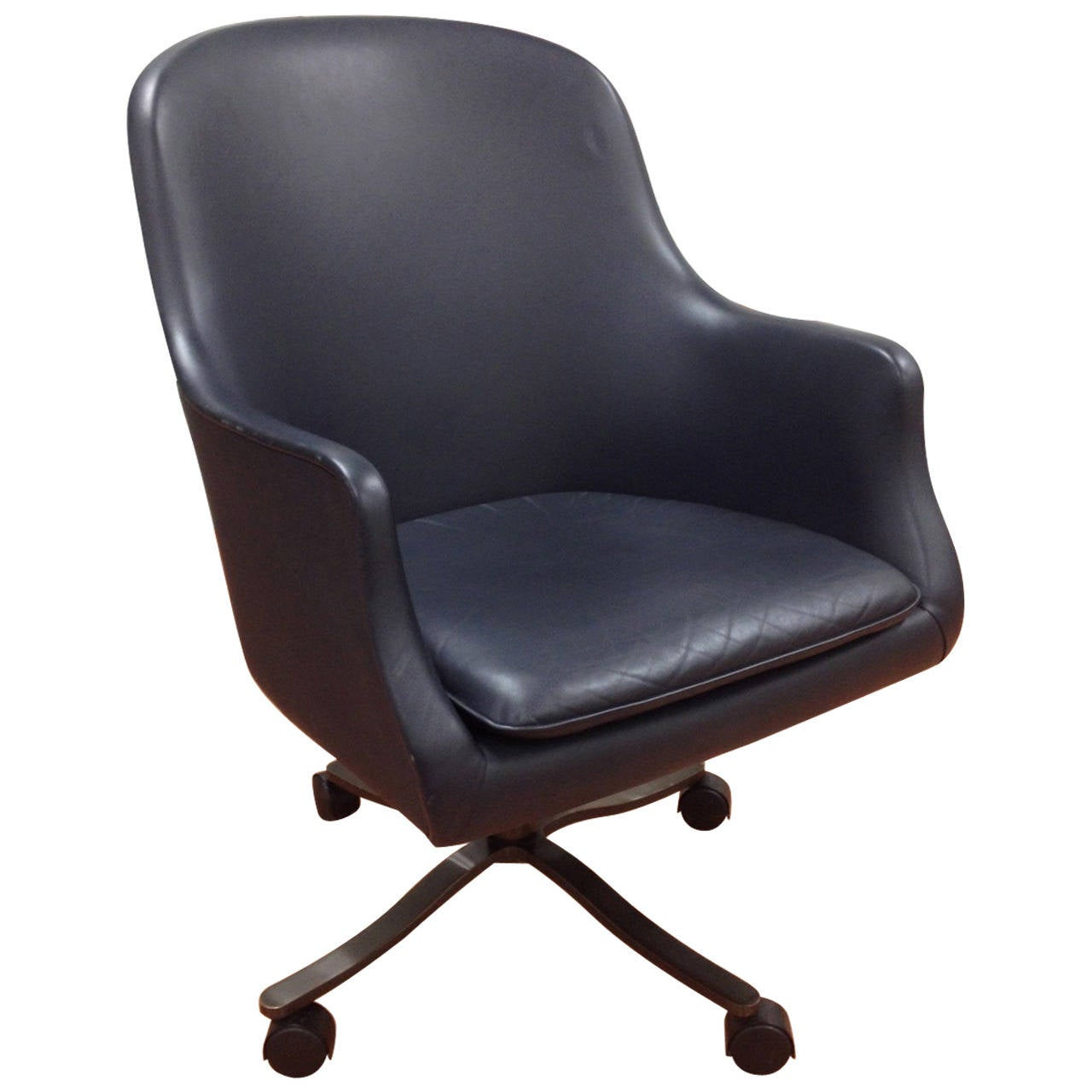 Exceptional Leather Executive Swivel Desk Chair By Nicos