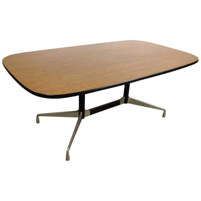 Charles Eames Herman Miller Aluminum Group Conference Dining Table With Faux