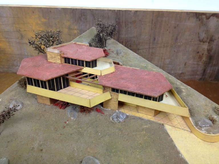 Frank Lloyd Wright Inspired Architectural Model By Cliff