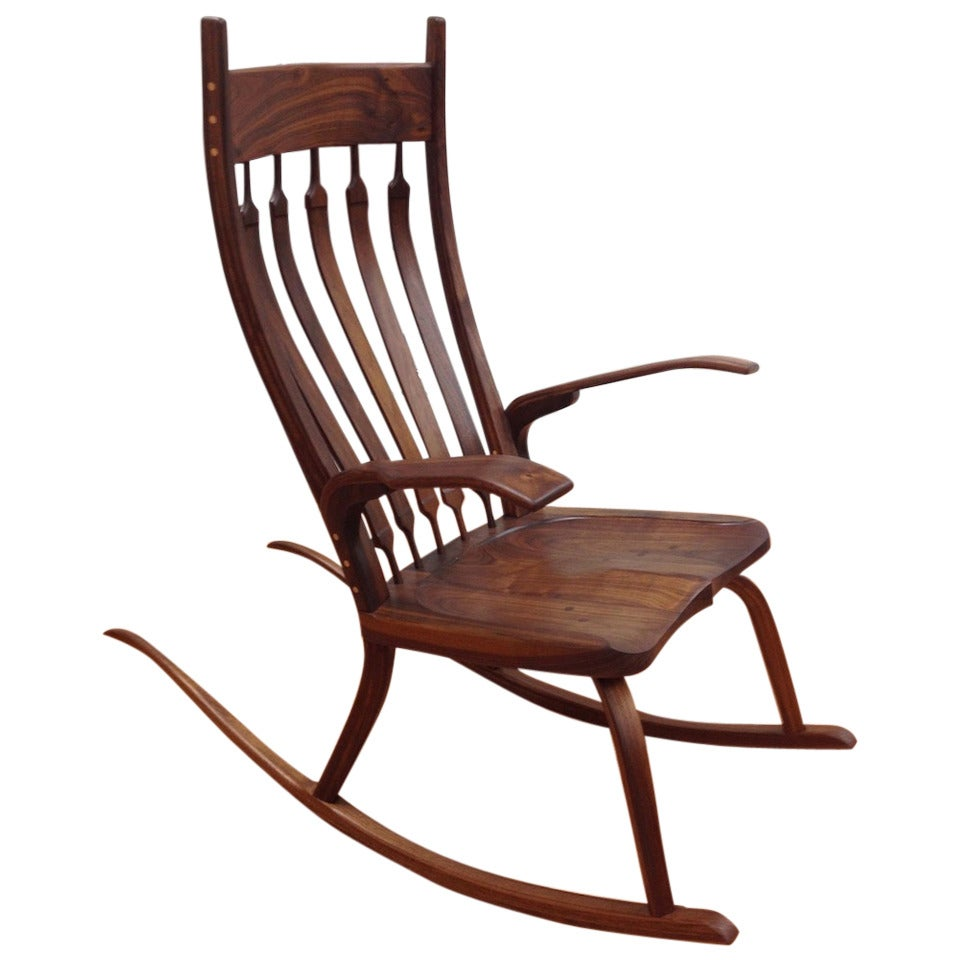 Beautiful handcrafted studio rocking chair by california for Rocking chair