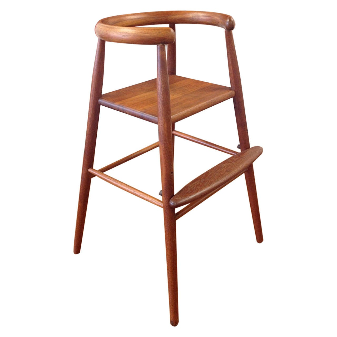 Danish modern teak child s high chair by kolds savvaerk at 1stdibs