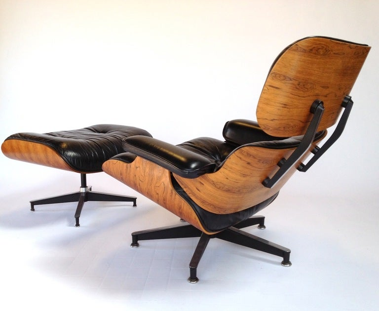 Vintage Herman Miller Rosewood Charles Eames 670 671 Lounge Chair and Ottoman