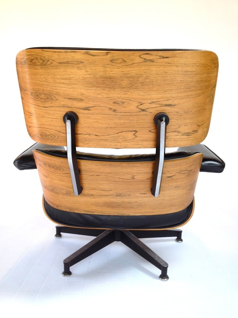 Vintage herman miller rosewood charles eames 670 671 - Herman miller lounge chair and ottoman ...