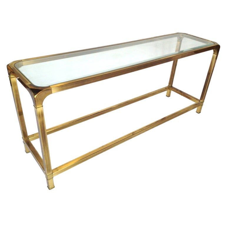 Mastercraft Brass Console Sofa Table At 1stdibs