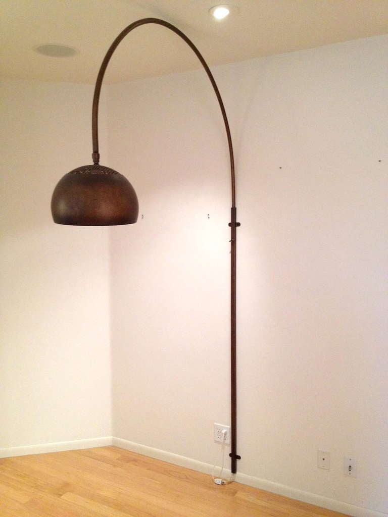 Wall Mount Arch Arco Lamp in a Copper Finish at 1stdibs