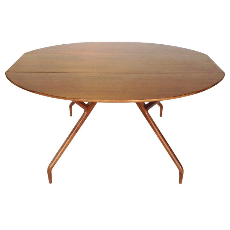 Greta Grossman Spider Leg Drop Leaf Dining Console Table