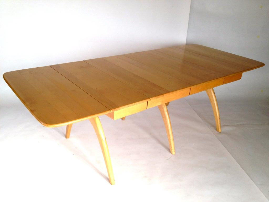 heywood wakefield m197g wishbone drop leaf extension table at 1stdibs
