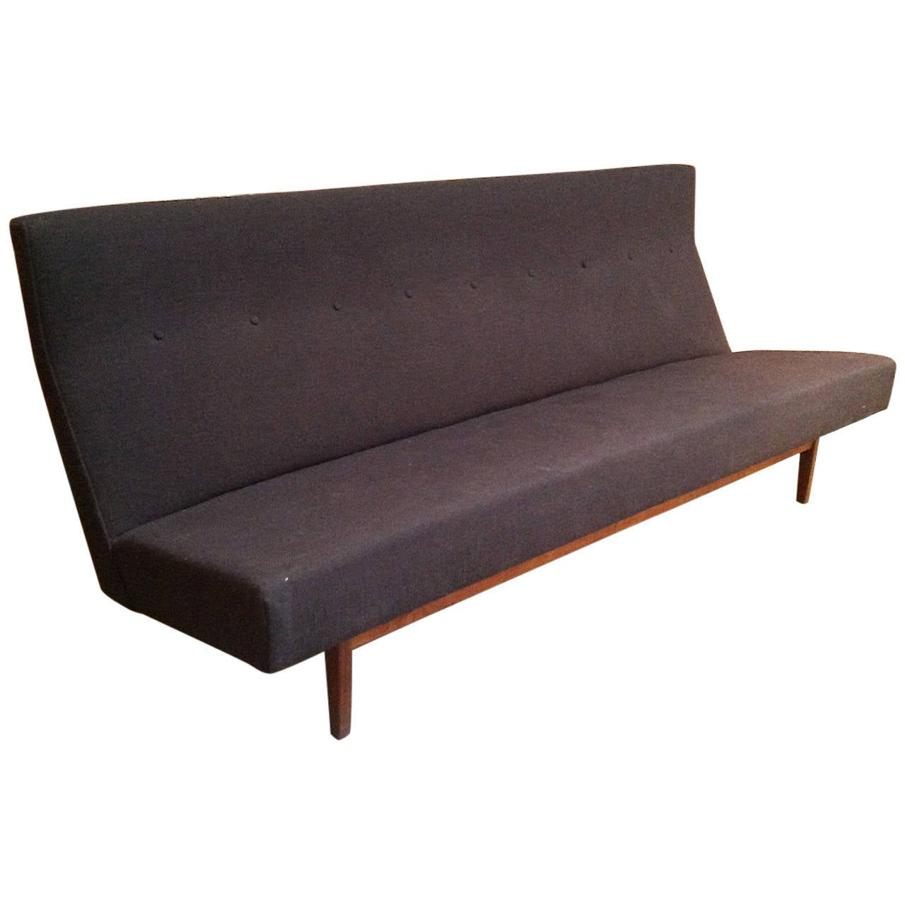 Vintage jens risom danish modern armless sofa at 1stdibs