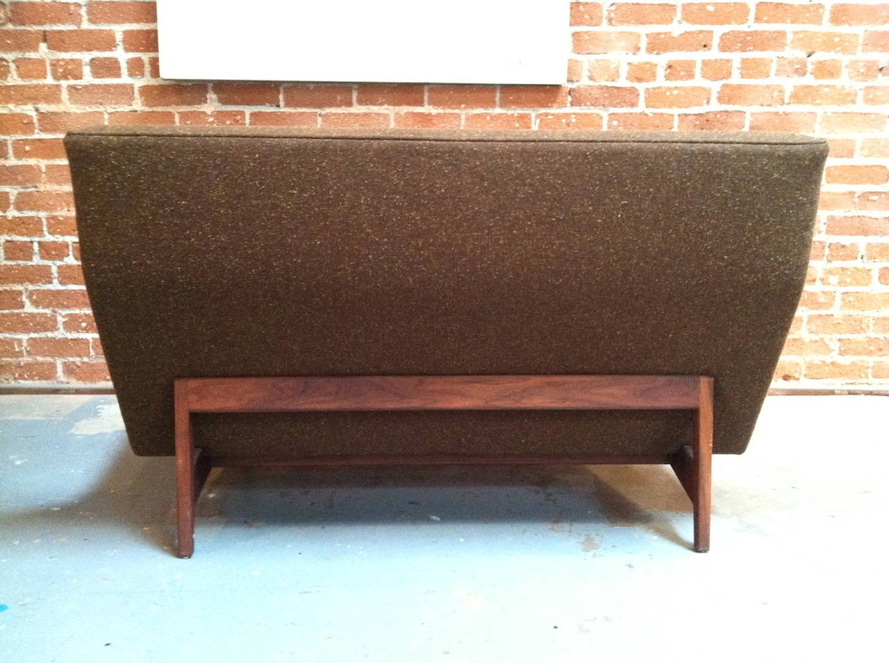 Vintage Jens Risom Danish Modern Armless Loveseat Sofa At 1stdibs
