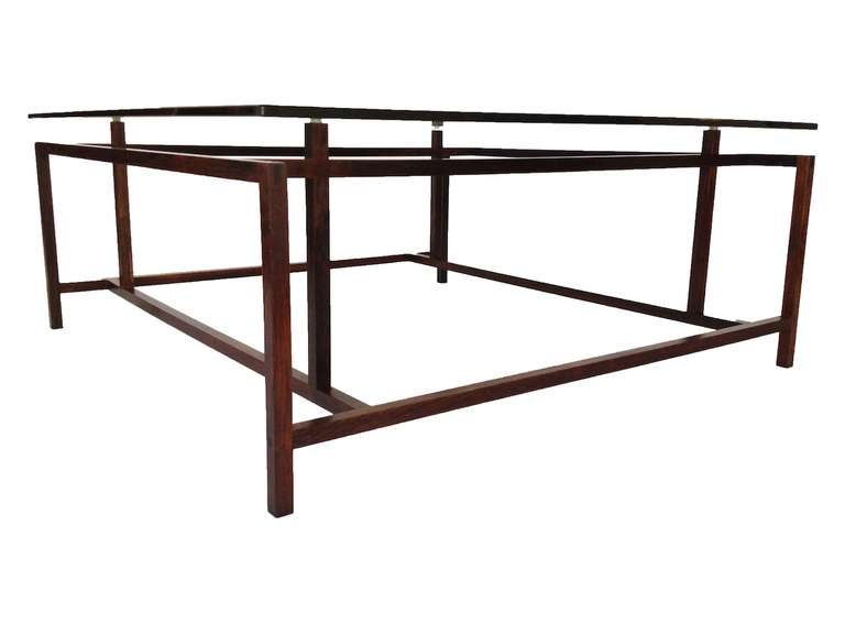 Architectural rosewood coffee table by henning norgaard for Architectural coffee table