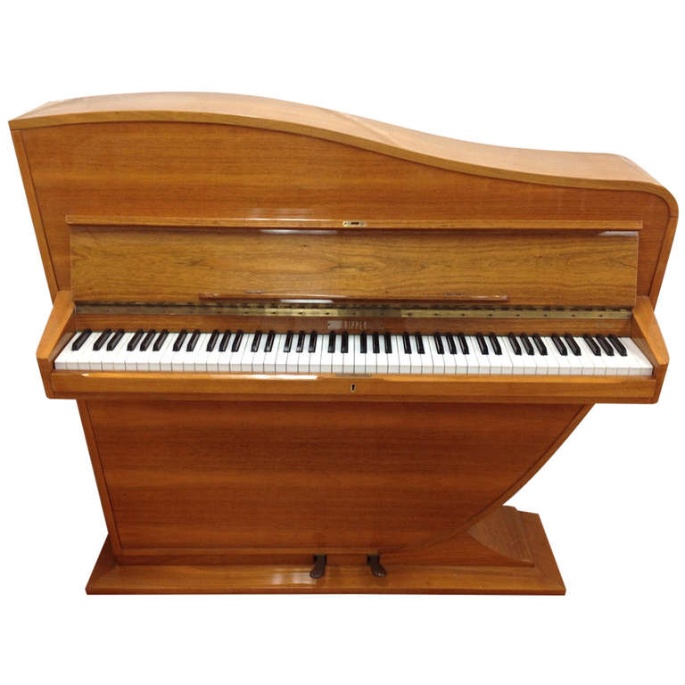 Exceptional Danish Modern Maestro Ii Upright Piano By