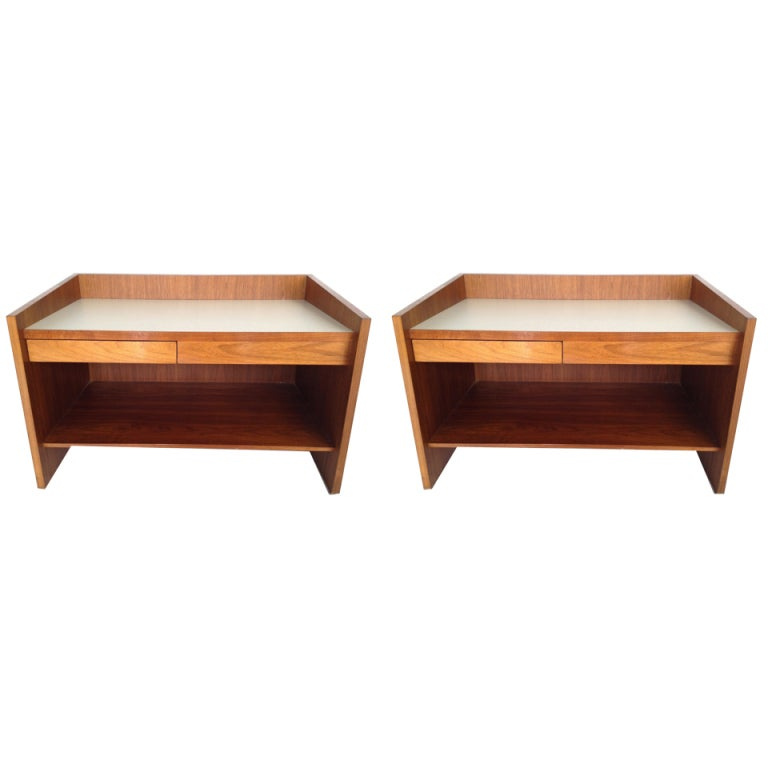 Pair Of George Nelson End Tables Side Tables Nightstands