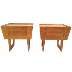 Pair of Paul Laszlo Nightstands for Brown Saltman