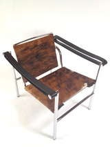 Authentic Signed Cassina Le Corbusier LC1 Cowhide Lounge Chair image 3