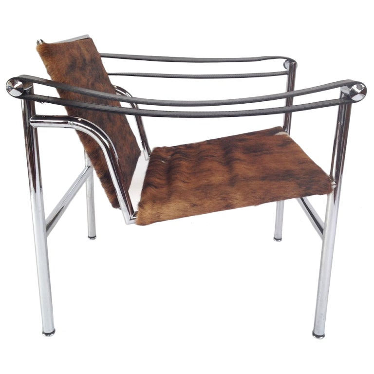 Authentic Signed Cassina Le Corbusier LC1 Cowhide Lounge Chair