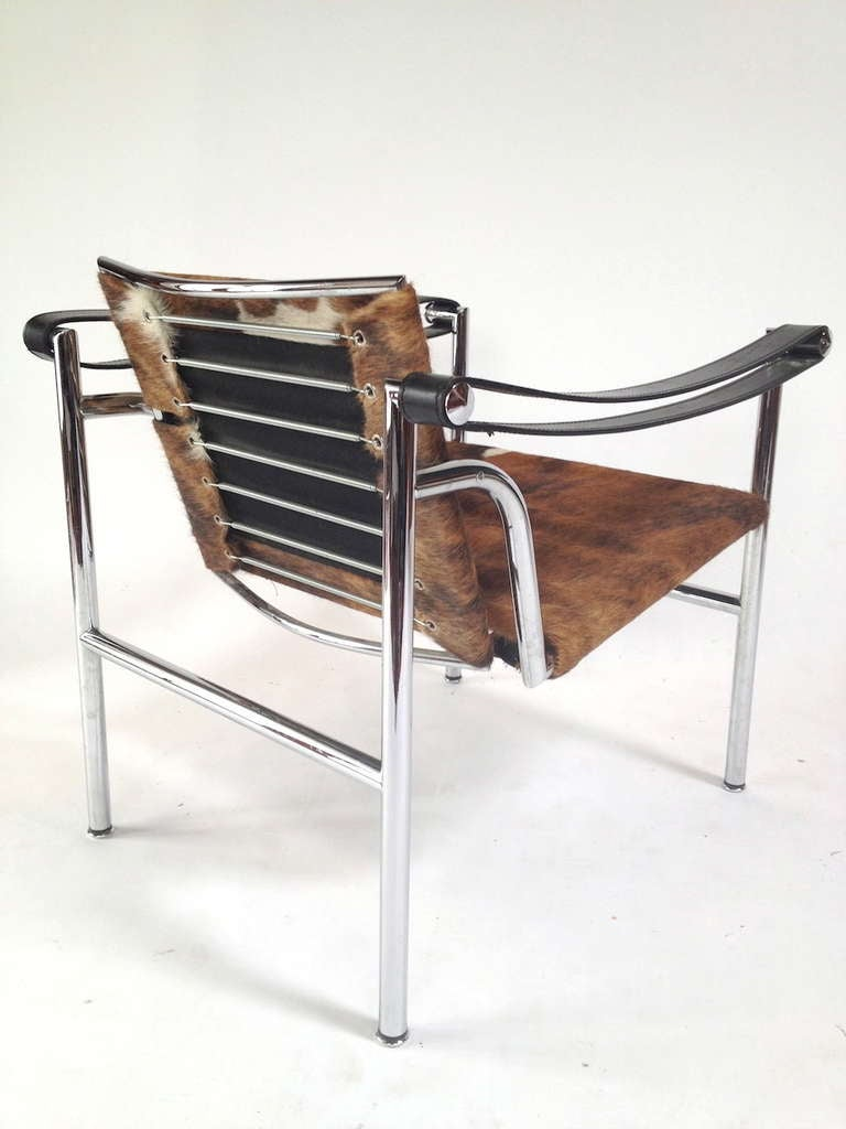 Authentic Signed Cassina Le Corbusier LC1 Cowhide Lounge