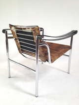 Authentic Signed Cassina Le Corbusier LC1 Cowhide Lounge Chair image 7