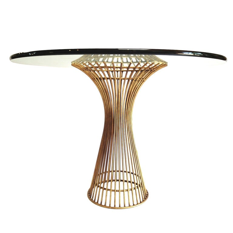Gold Colored Platner Style Dining Or Cafe Table Base at  : XXX13 from www.1stdibs.com size 768 x 768 jpeg 42kB