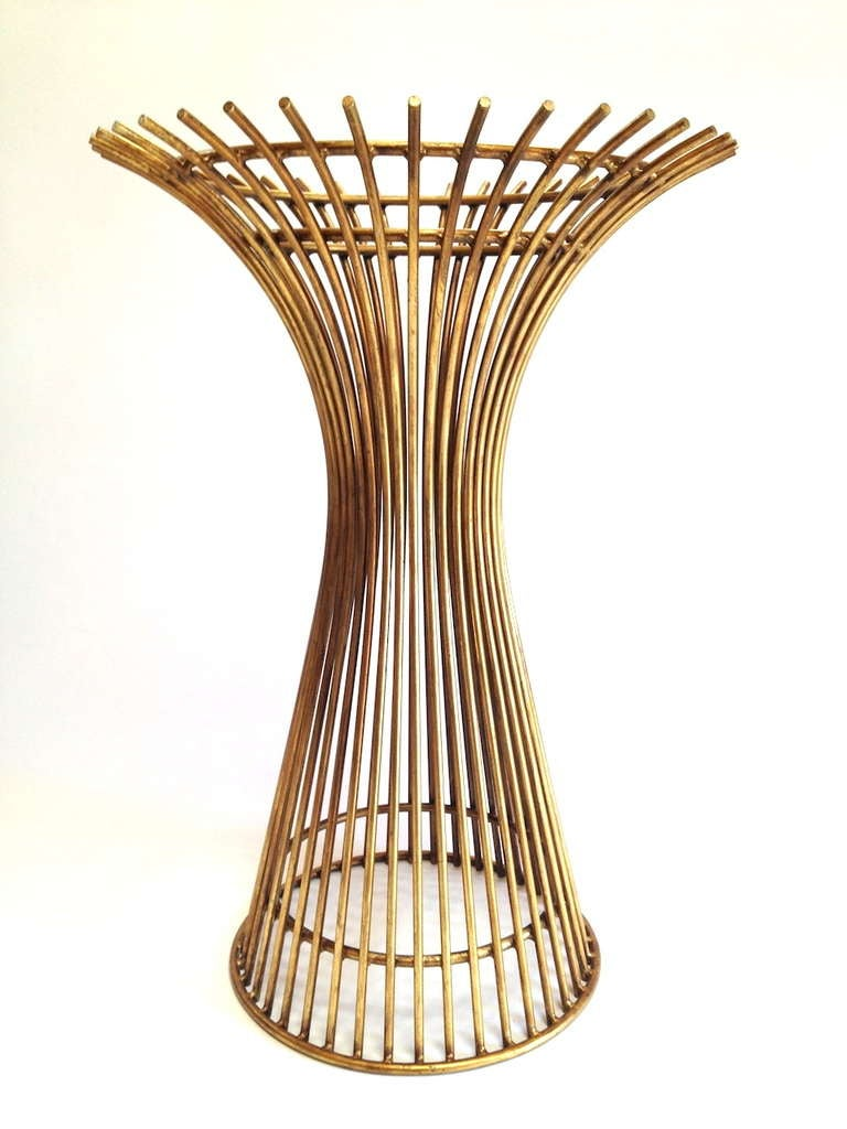 Gold Colored Platner Style Dining Or Cafe Table Base at  : 6l from 1stdibs.com size 768 x 1024 jpeg 77kB
