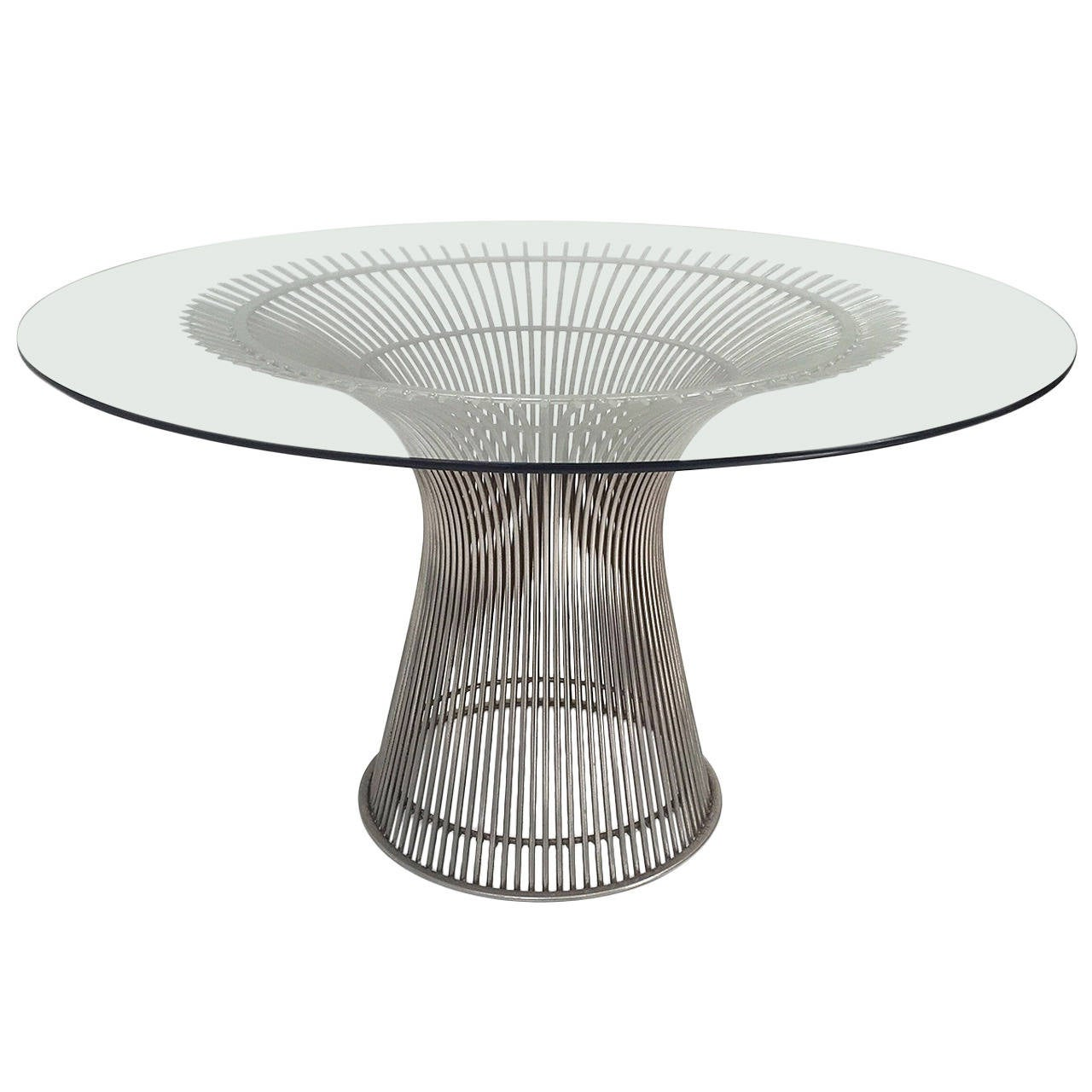 Vintage Knoll Warren Platner Glass Top Dining Table at 1stdibs : 2676122l from www.1stdibs.com size 1280 x 1280 jpeg 109kB