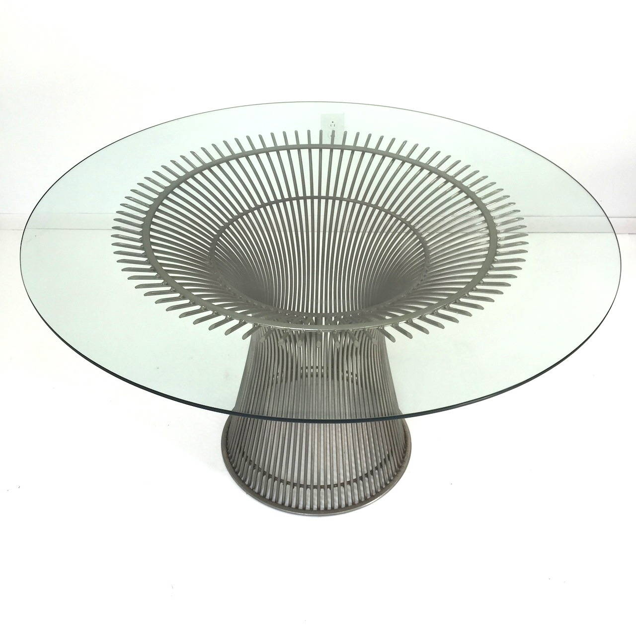 Vintage Knoll Warren Platner Glass Top Dining Table at 1stdibs : IMG3594l from www.1stdibs.com size 1280 x 1280 jpeg 136kB