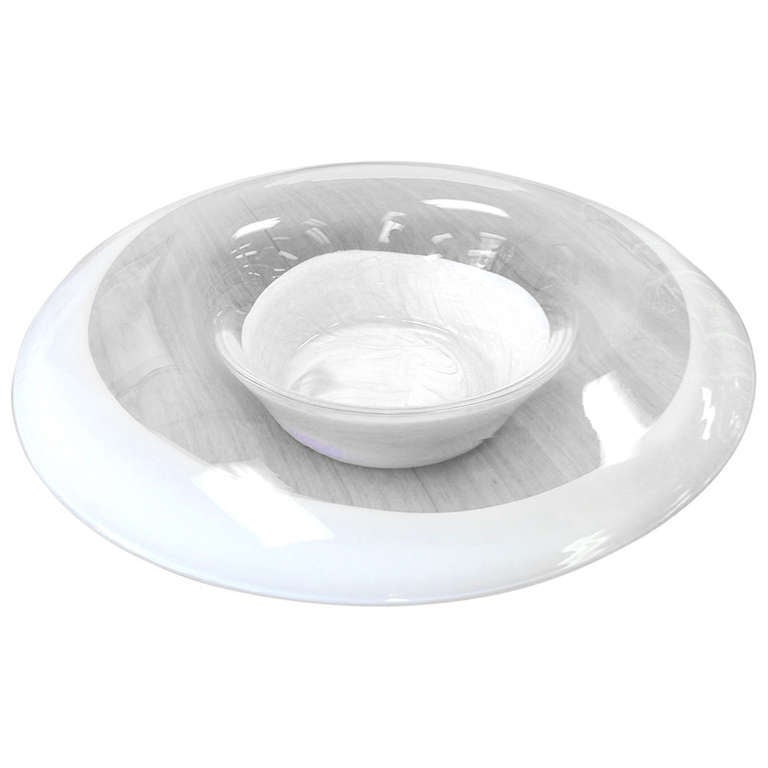 Large murano glass bowl centerpiece made in italy at stdibs
