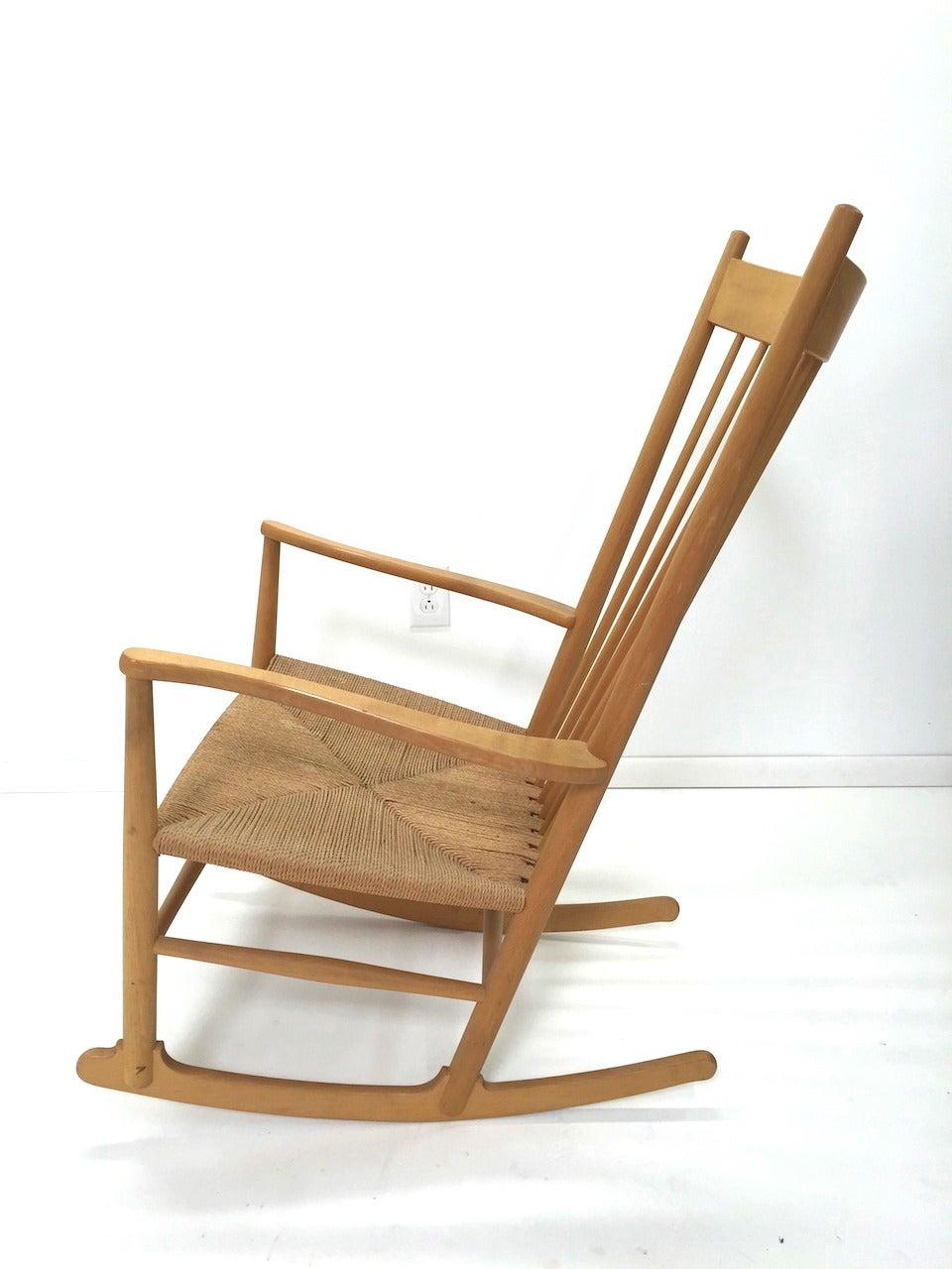 Hans Wegner J16 Danish Modern Rocking Chair By Fdb Mobler