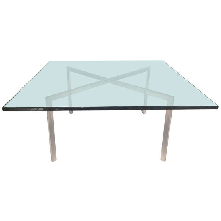 Vintage mies van der rohe barcelona cocktail coffee table for knoll at 1stdibs - Barcelona table knoll ...