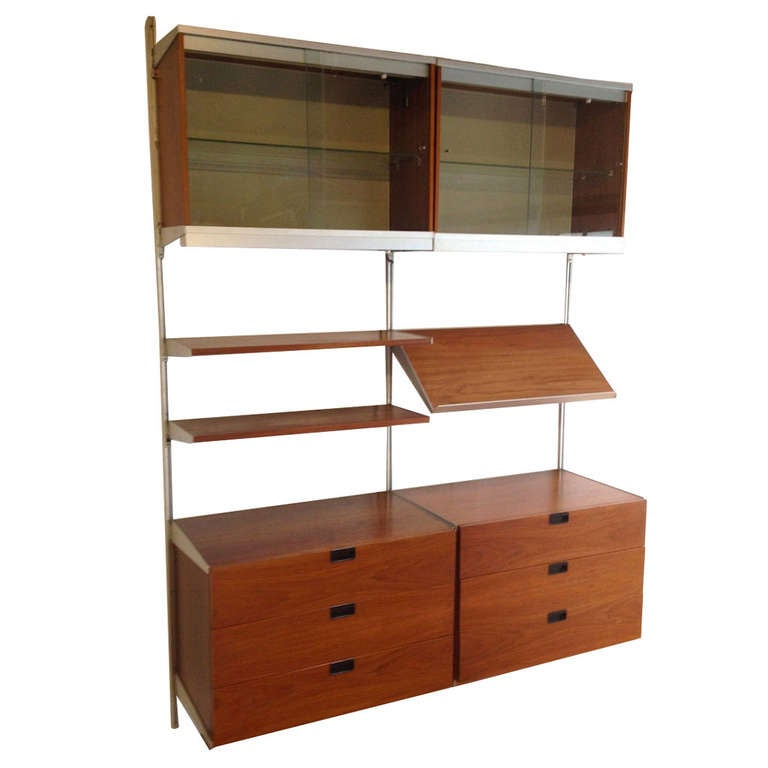 George Nelson 2 Section Wall Mount CSS Wall Unit for