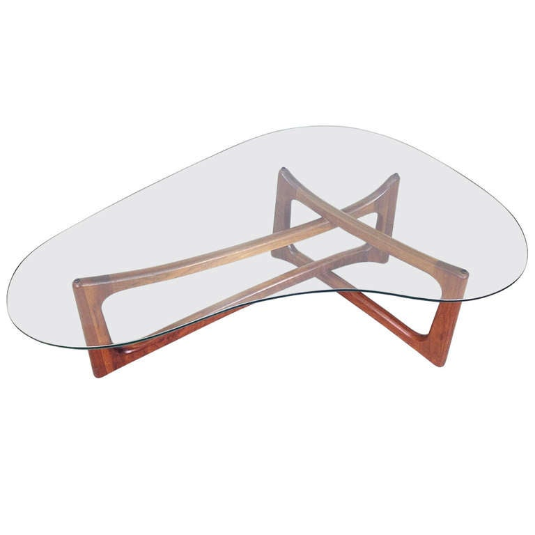 Adrian Pearsall Freeform Kidney Shaped Coffee Table For Craft Associates At 1stdibs