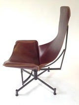 Iron and Leather Sling Lounge Chair by Max Gottschalk image 3