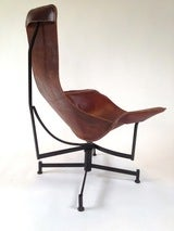 Iron and Leather Sling Lounge Chair by Max Gottschalk image 5