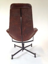 Iron and Leather Sling Lounge Chair by Max Gottschalk image 7