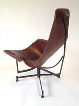 Iron and Leather Sling Lounge Chair by Max Gottschalk image 8