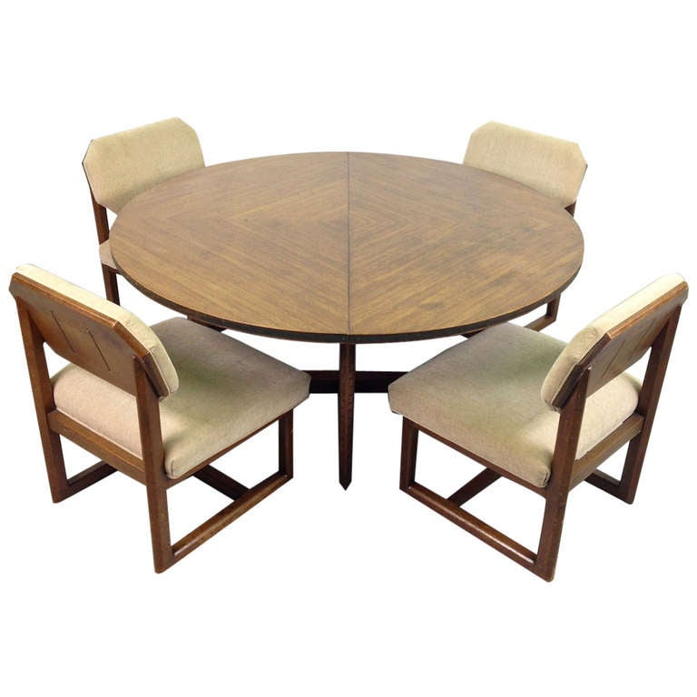 Frank Lloyd Wright Taliesin Game Table 4 Chairs by  : 1001708l from 1stdibs.com size 768 x 768 jpeg 43kB