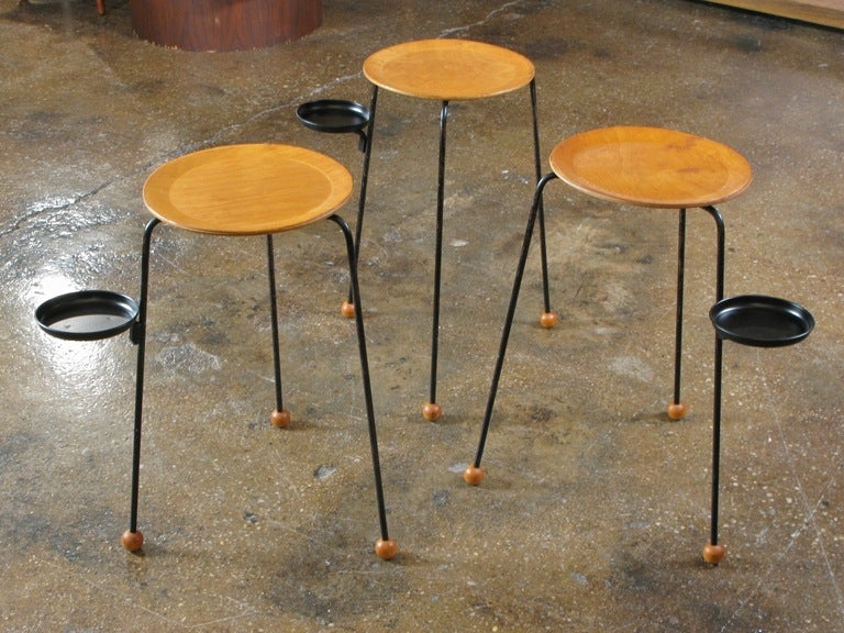Tony Paul Quot Tablette Quot Set Of 3 Stacking Snack Tables At 1stdibs